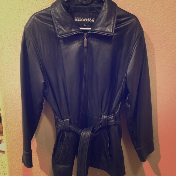 Kenneth Cole Reaction Jackets & Blazers - Kenneth Cole Leather Jacket